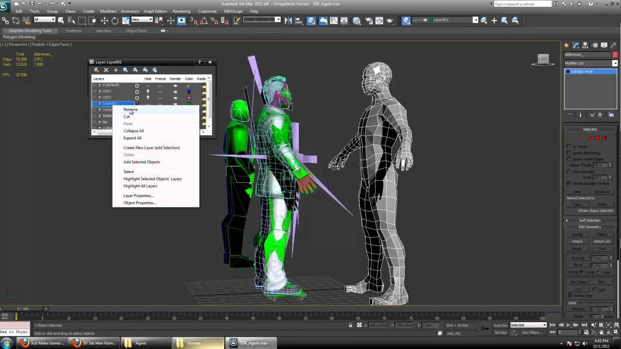 CryEngine 3 Import Custom Characters, Rig, and Animations